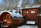 Vitalhotel König am Park in Bad Mergentheim im Tal der Tauber, Sauna im Winter